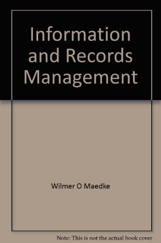 9780024708007: Information and records management