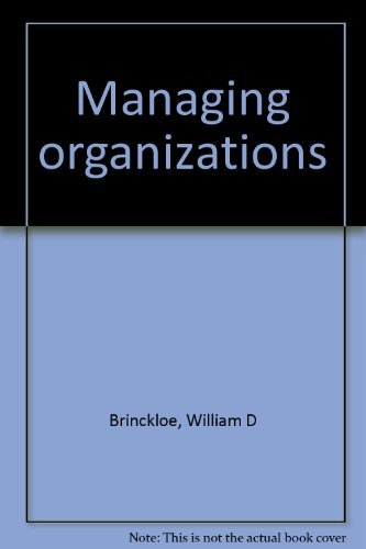 9780024712004: Title: Managing organizations