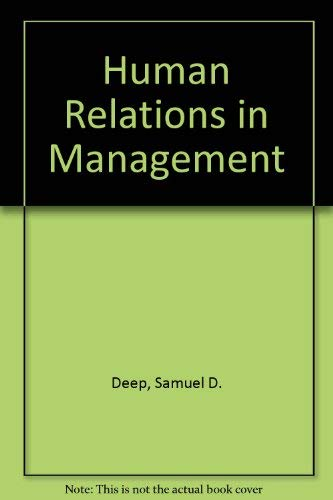 9780024721808: Human Relations in Management
