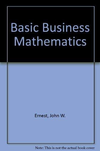 9780024726100: Basic Business Mathematics