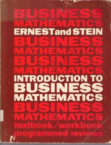 9780024741004: Introduction to Business Mathematics