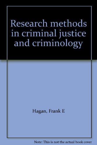 9780024773401: Research methods in criminal justice and criminology