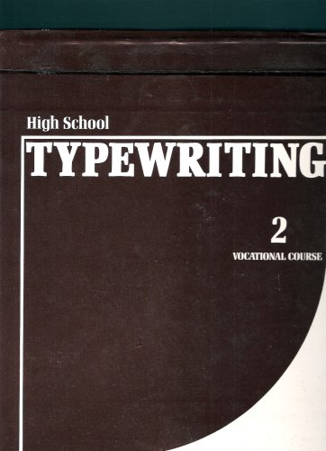 9780024797407: High School Typewriting Course (Vocational Course, Volume 2)
