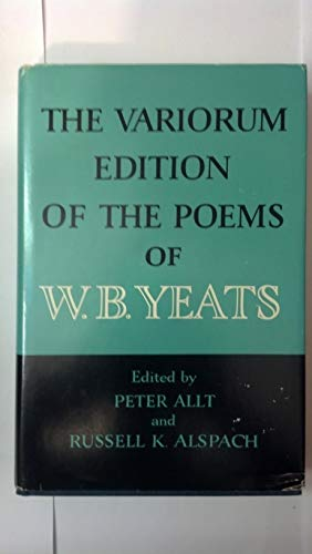 9780025015609: The Variorum Edition of the Poems of W. B. Yeats
