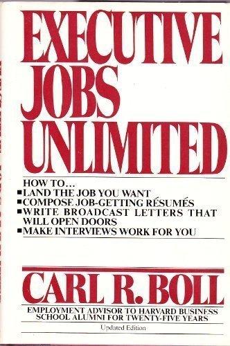 9780025127906: Executive Jobs Unlimited