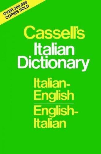 9780025225305: Cassell's Italian Dictionary: Italian-English, English-Italian (English and Italian Edition)