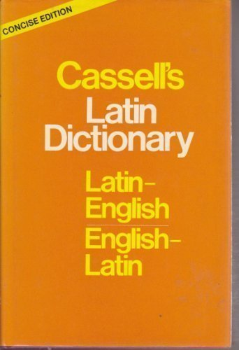 9780025226302: Cassell's Concise Latin-English, English-Latin Dictionary