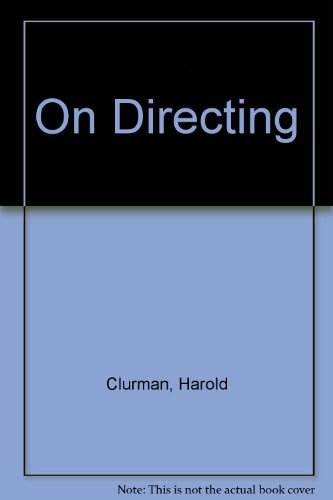 9780025264106: On Directing