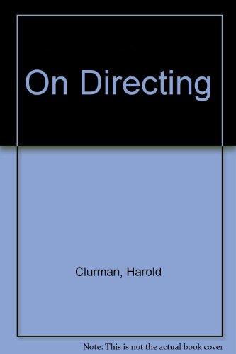 9780025264106: On Directing