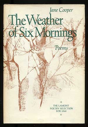 9780025280700: Weather of Six Mornings Poems