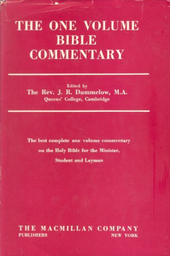 9780025337701: A Commentary on the Holy Bible