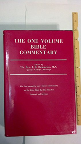 9780025337701: The One Volume Bible Commentary