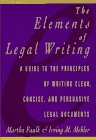 9780025370456: Elements of Legal Writing