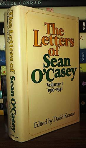 9780025666603: Letters of Sean O'Casey: 1910-41 v. 1