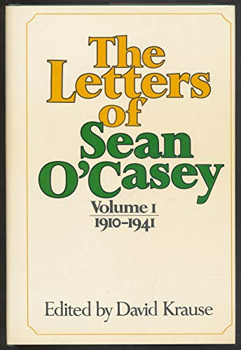 9780025666603: The Letters of Sean O'Casey: 1910-1941 Volume 1 (v. 1)