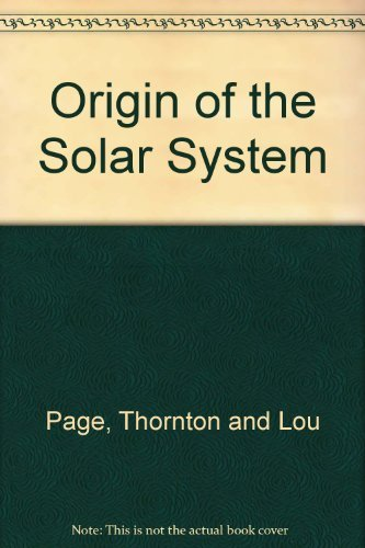 9780025943803: Origin of the Solar System