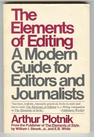 9780025977006: The ELEMENTS OF EDITING