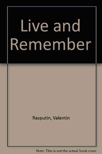 9780026011303: Live and Remember