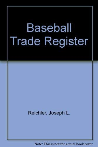 9780026031103: Baseball Trade Register