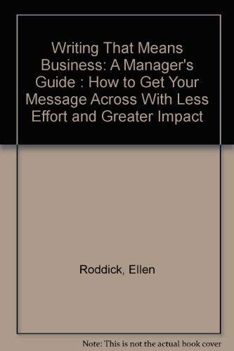 Writing That Means Business: A managers guide