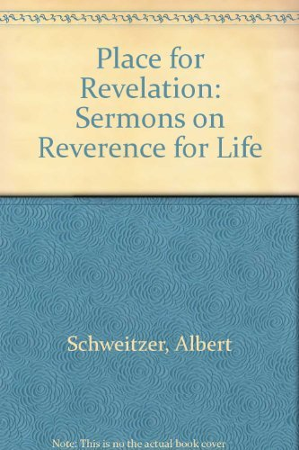 9780026078115: Place for Revelation: Sermons on Reverence for Life (English and German Edition)
