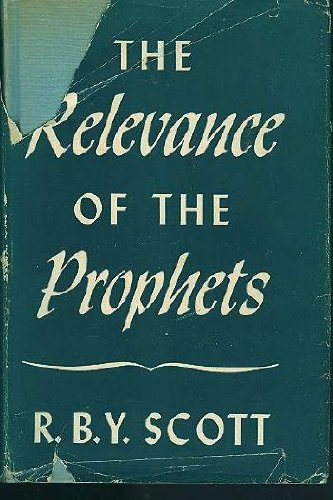 9780026087803: Relevance of the Prophets