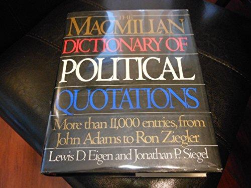 9780026106504: THE MACMILLAN DICT OF POLITICAL QUOT 93