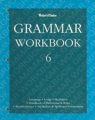 9780026351454: Writer's Choice Grammar Workbook 6