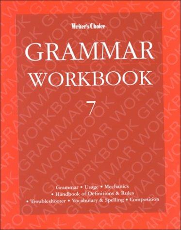 Writer's Choice Grade 7, Grammar Workbook: McGraw-Hill Staff