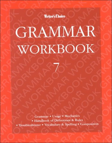 9780026351478: Writer's Choice Grade 7, Grammar Workbook