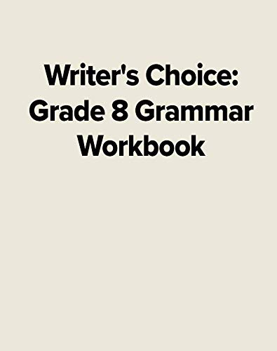 Writer's Choice Grade 8 Grammar Workbook (9780026351492) by McGraw-Hill Education