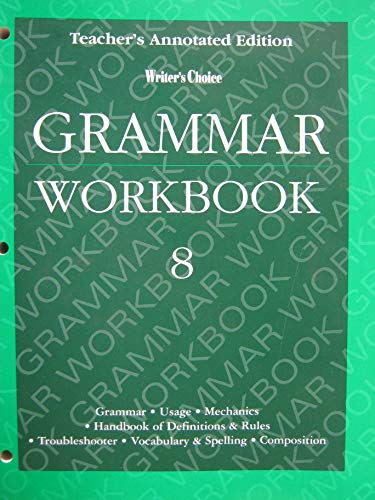 9780026351515: Writer's Choice Grammer Workbook 8 Teacher's Annotated Edition