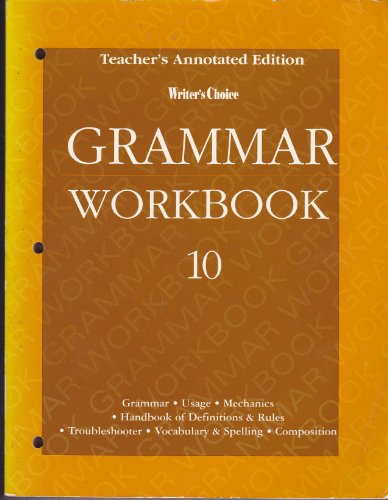 Writer's Choice Grammar Workbook 1996 : Grade: Glencoe Publishing Staff
