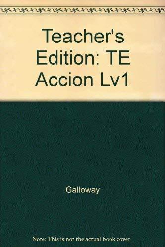 9780026353021: Accion Level 1: Teacher Wraparound Edition (Spanish Edition)