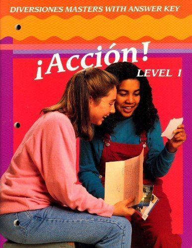 9780026353489: Diversiones masters with answer key Accion! Level 1