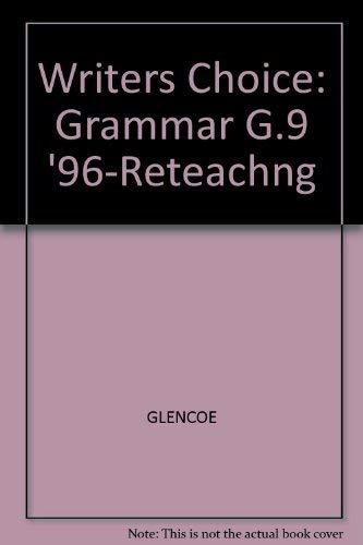 9780026355834: Grammar Reteaching (Writer's Choice Grammar and Composition)