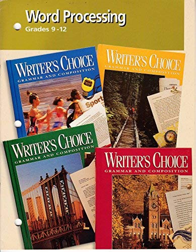 9780026355957: Writers Choice Word Processing