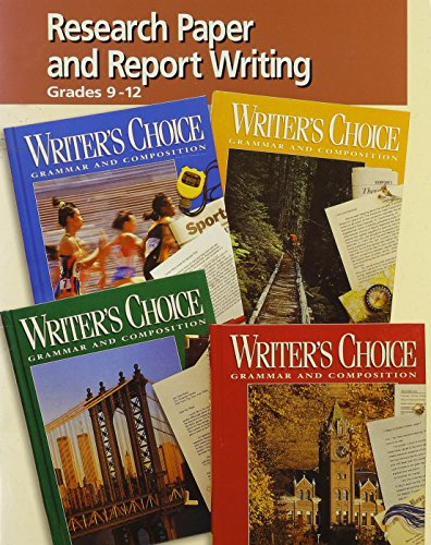 9780026355964: Writers Choice Research Papers and Report Writing
