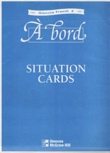 9780026368292: Glencoe French, Level 2: A Bord Situation Cards