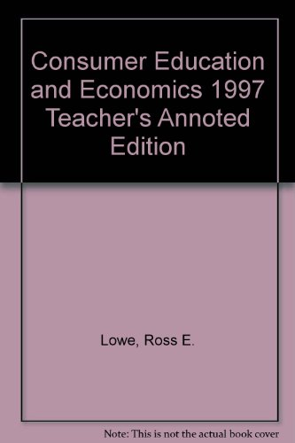 9780026372244: Consumer Education and Economics: Annotated