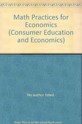 9780026372329: Math Practices for Economics (Consumer Education and Economics)