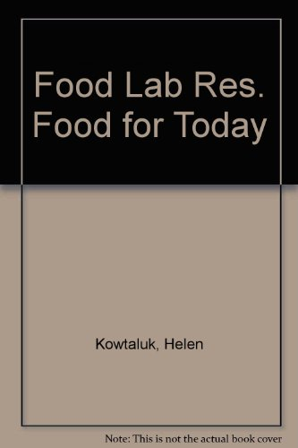 9780026429917: Food Lab Res. Food for Today