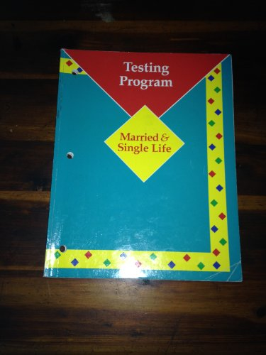9780026430104: Married & Single Life Testing Program Workbook