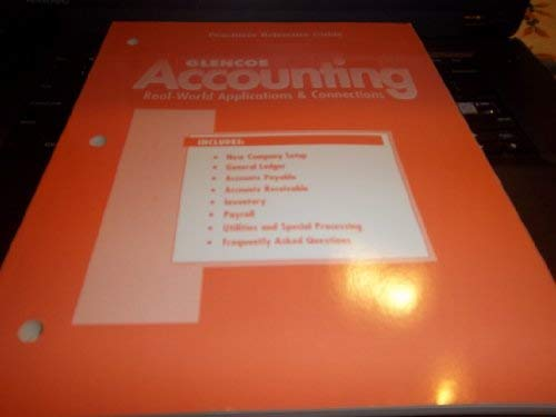 9780026439992: Glencoe Accounting Peachtree Reference Guide