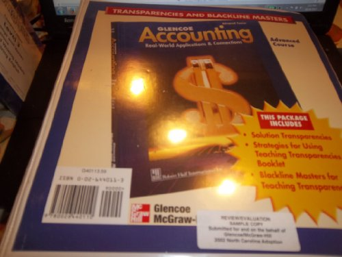 9780026440110: Glencoe Accounting Real-World Applications & Connections Transparencies and Blackline Masters