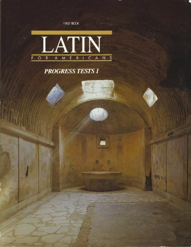 9780026460040: First Book, Latin for Americans, PROGRESS TESTS 1 Includes Answer Key
