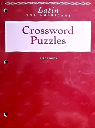 9780026460248: Latin for Americans: First Book: Crossword Puzzles (Latin for Americans, First Book)