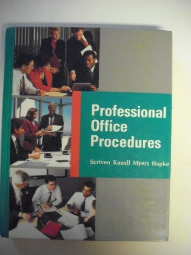 9780026508636: Professional Office Procedures