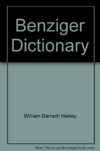 9780026530705: Benziger dictionary