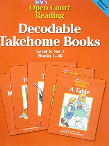 9780026610483: Decodable Takehome Books: Open Court Reading (Level B, Set 1, Book 1)